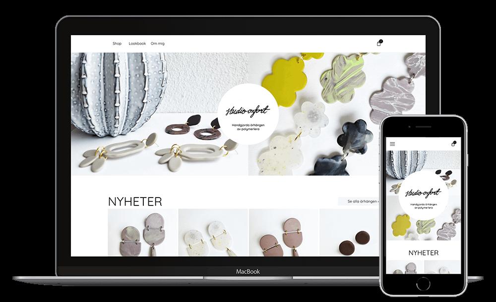 Webbplats för Studio Oxfort